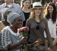 Madonna in Malawi in 2006